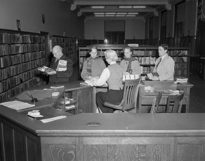 The perfect librarian, circa 1956. The Library of Virginia.